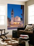 Duomo (Cathedral) in Piazza Del Duomo at Dusk  Spoleto  Umbria  Italy
