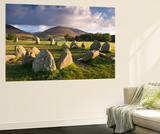 Castlerigg Stone Circle with Blencathra Mountain Behind  Lake District  Cumbria