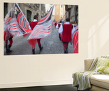 Flag Bearers in Medieval Festival of La Quintana  Ascoli Piceno  Le Marche  Italy