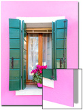 Italy  Veneto  Venice  Burano Typical Window on a Colorful House