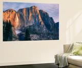 Warm Light and Chilly Yosemite Falls  Yosemite Valley