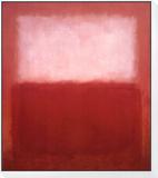 White over Red Reproduction montée et encadrée par Mark Rothko