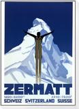 Zermatt Reproduction montée et encadrée par Pierre Kramer