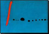 Bleu II Reproduction montée et encadrée par Joan Miró