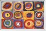 Étude de couleurs, vers 1913 Reproduction montée et encadrée par Wassily Kandinsky