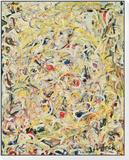 Shimmering Substance, c.1946 Reproduction montée et encadrée par Jackson Pollock