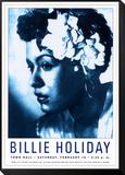 Affiche de concert, Billie Holiday - Town Hall, NYC 1948 Reproduction montée et encadrée par Dennis Loren