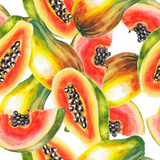 Watercolor Papaya Pattern