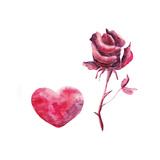 Watercolor Valentine's Day Set
