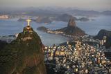 Aerial View of Christ  Sugarloaf  Guanabara Bay  Rio De Janeiro