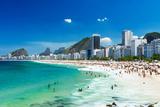 View of Copacabana Beach in Rio De Janeiro  Brazil