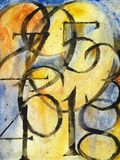 A Painting of the Numbers 0 to 9