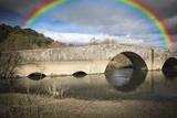 Ancient Roman Bridge over Alviela River - Pombalinho  Portugal