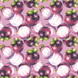 Watercolor Masngosteen Pattern