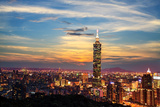 Taipei  Taiwan Evening Skyline