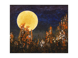 Moonlit Landscape with Flowers