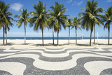 Copacabana Beach Boardwalk Pattern Rio De Janeiro Brazil Papier Photo par LazyLlama