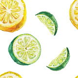 Watercolor Lime and Lemon Pattern