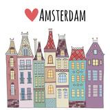 Amsterdam Cute Houses Town City Street