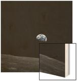 Earthrise and Lunar Horizon from Apollo 8