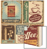 Vintage Coffee Posters And Metal Signs