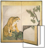 Tiger Screen  Japanese  1781 (Ink  Colour and Gold on Paper)