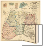 1865  Montgomery County Wall Map  Maryland  United States