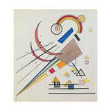 With the Triangle (W/C and Gouache) Giclée par Wassily Kandinsky