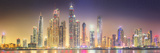 The Beauty Panorama of Dubai Marina UAE