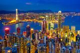 Hong Kong Skyline at Night  China