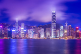 Hong Kong Victoria Harbour Cityscape at Night