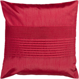 Brilliant Pleated Poly Fill Pillow - Ruby Red