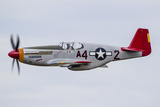 A P-51 Mustang Flies by at Eaa Airventure  Oshkosh  Wisconsin