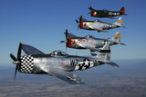Formation of P-47 Thunderbolts Flying over Chino  California