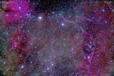 Vela Supernova Remnant in the Center of the Gum Nebula Area of Vela
