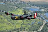 B-24 Liberator Flying over Mt Lassen  California