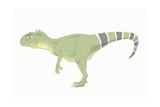 Allosaurus Pencil Drawing with Digital Color