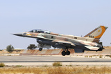 Israeli Air Force F-16I Sufa Landing at Hatzerim Airbase  Israel