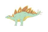 Stegosaurus Pencil Drawing with Digital Color
