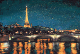 Paris Nights Blue I