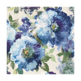 Indigo Floral Gallery Reproduction d'art par Hugo Wild