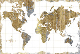 Gilded Map Reproduction d'art par Hugo Wild