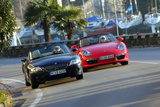 BMW Z4 30i und Porsche Boxster Cabrio