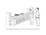 """""""The two things that really drew me to vinyl were the expense and the inco"""" - New Yorker Cartoon"""