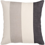 Greyscale Stripes Down Fill Pillow