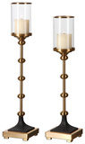 Santona Brass Candleholders  S/2