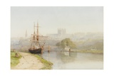 Exeter Canal Below Exeter Cathedral  1890-1900