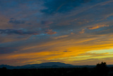 New Mexico  Santa Fe  Sunset from Hyde Park Road at Avenida Primera S