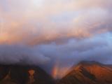 Hawaii  Maui  Rainbow over the Western Mountains of Maui