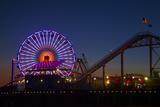 Los Angeles  Santa Monica  Ferris Wheel and Roller Coaster